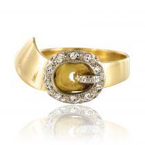 Bague ancienne ceinture Diamants