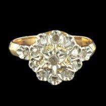 Bague ancienne de fiançailles diamants