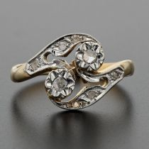 Bague ancienne de la Belle époque diamants
