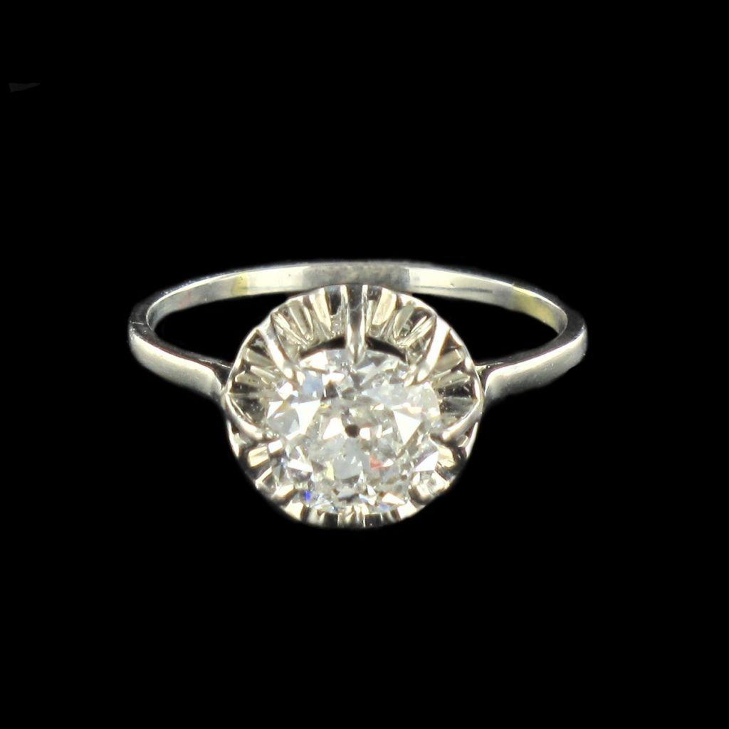 Bague ancienne diamant 1.20 carat