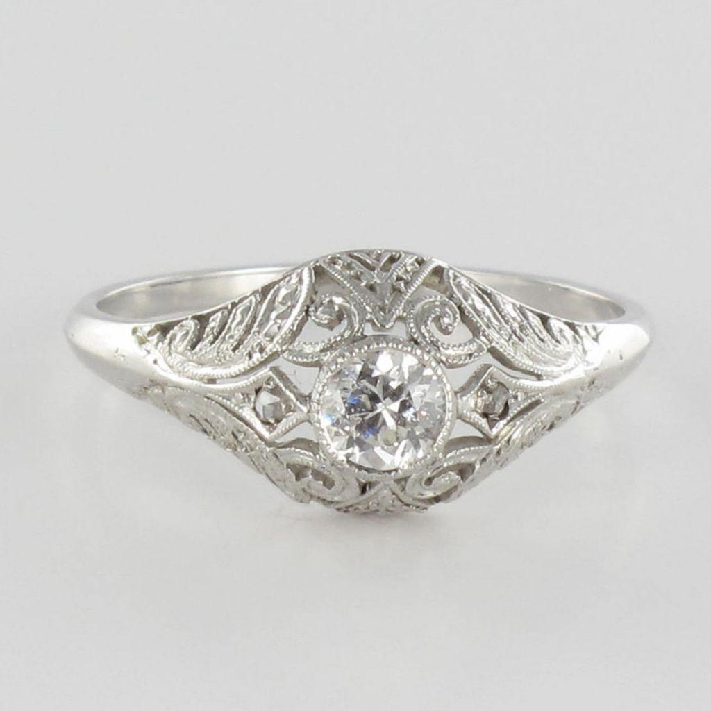 Bague ancienne diamant art déco