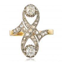 Bague ancienne diamants 1900
