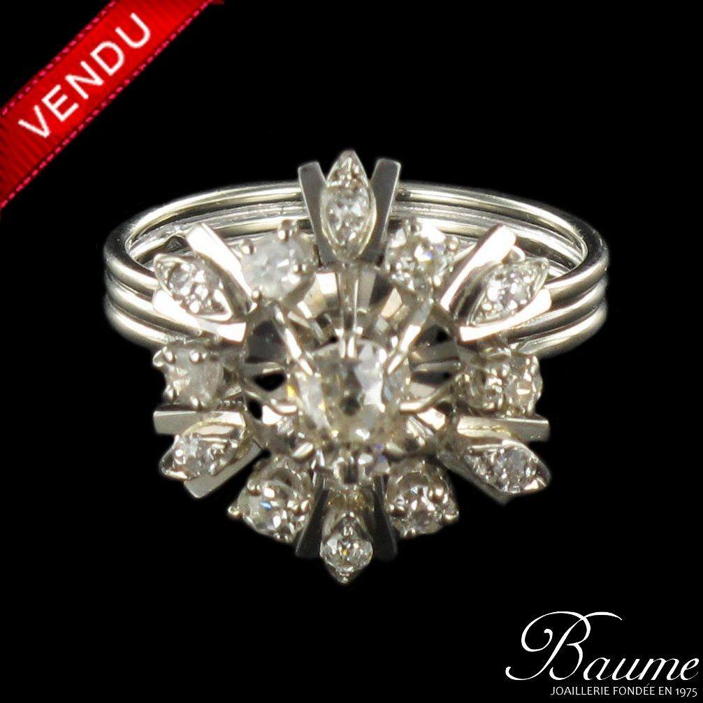 Bague ancienne Diamants 1960