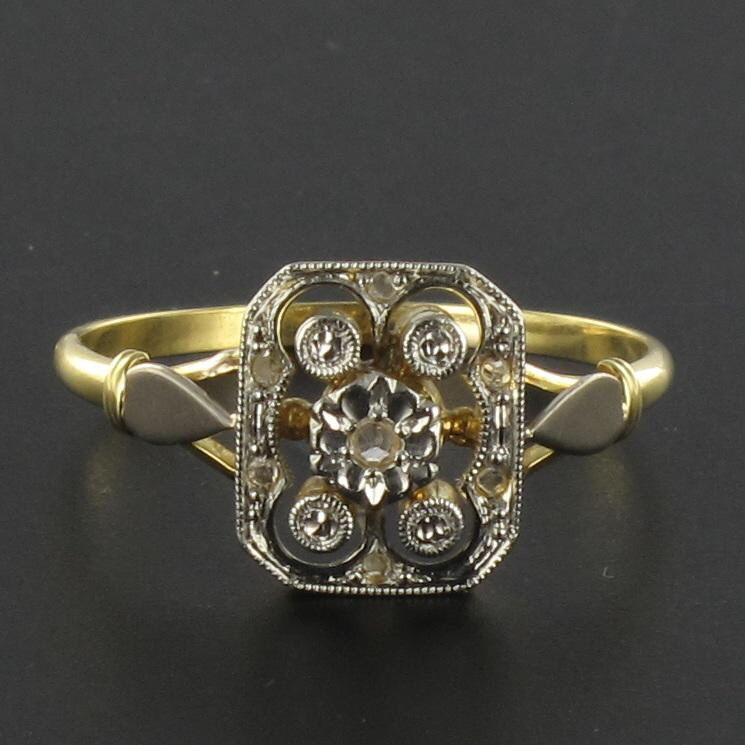 Bague ancienne diamants années 30