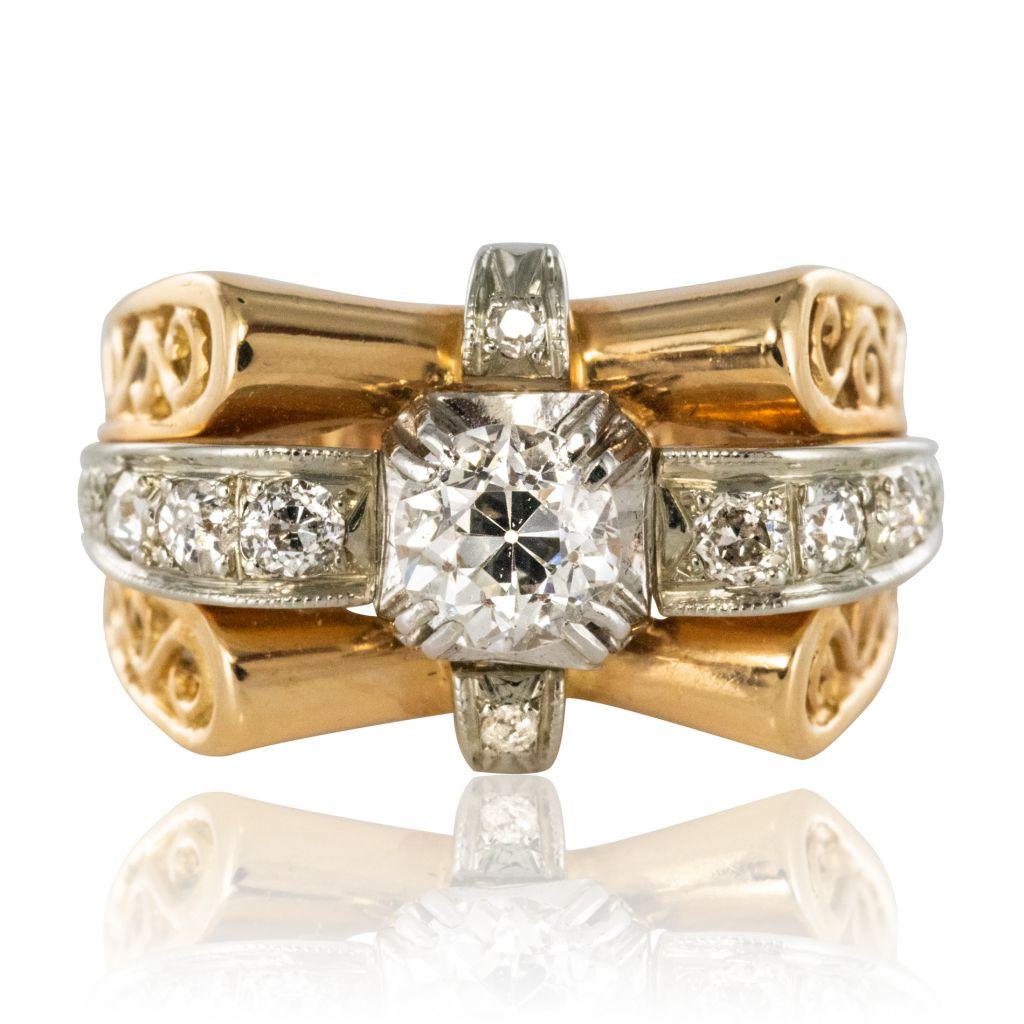 Bague ancienne diamants années 60