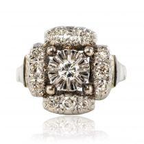 Bague ancienne diamants art déco