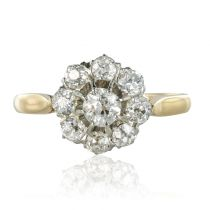 Bague ancienne diamants marguerite