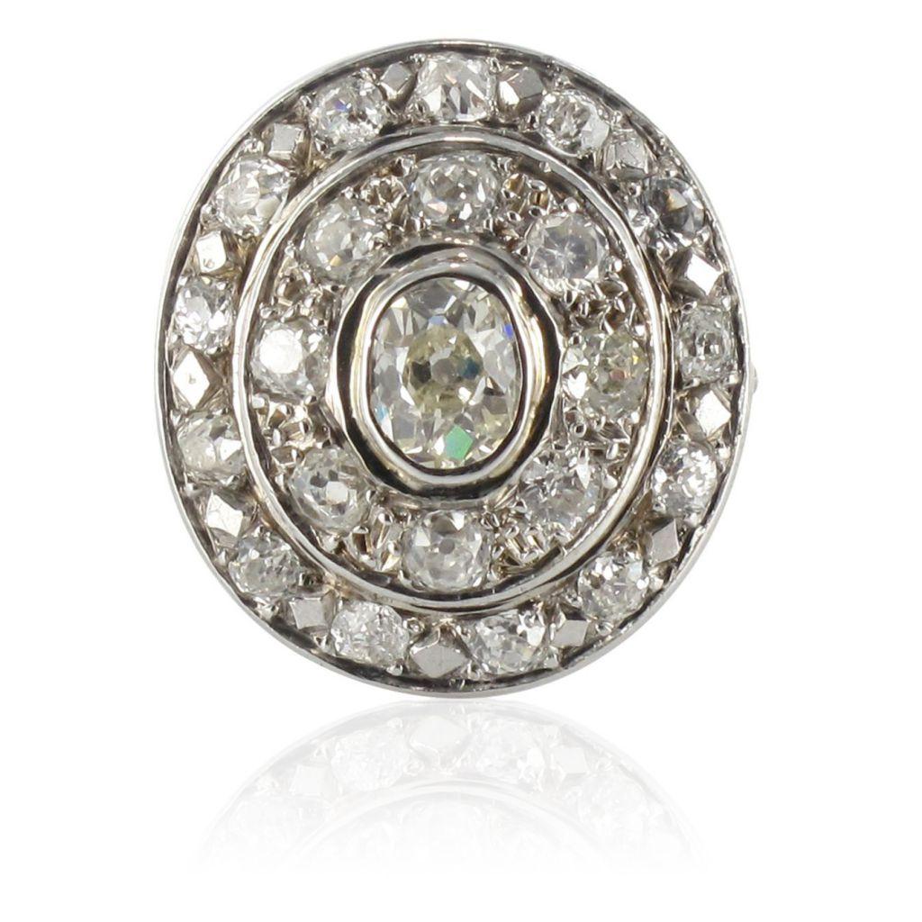Préférence Bague ancienne Diamants - Bague de fiançailles diamants RG68