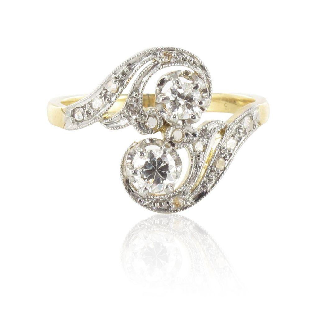 bague diamants ancienne s bijoux anciens bijouxbaume. Black Bedroom Furniture Sets. Home Design Ideas