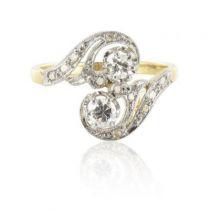 Bague ancienne diamants S