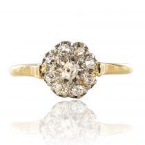 Bague ancienne fleur de diamants