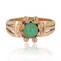 Bague ancienne jade or rose