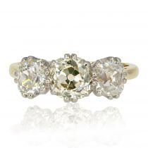 Bague ancienne jarretière de diamants