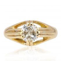 Bague ancienne jonc diamant