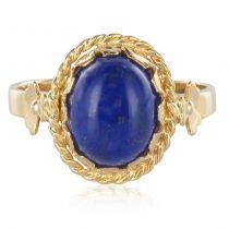 Bague ancienne lapis lazuli cabochon
