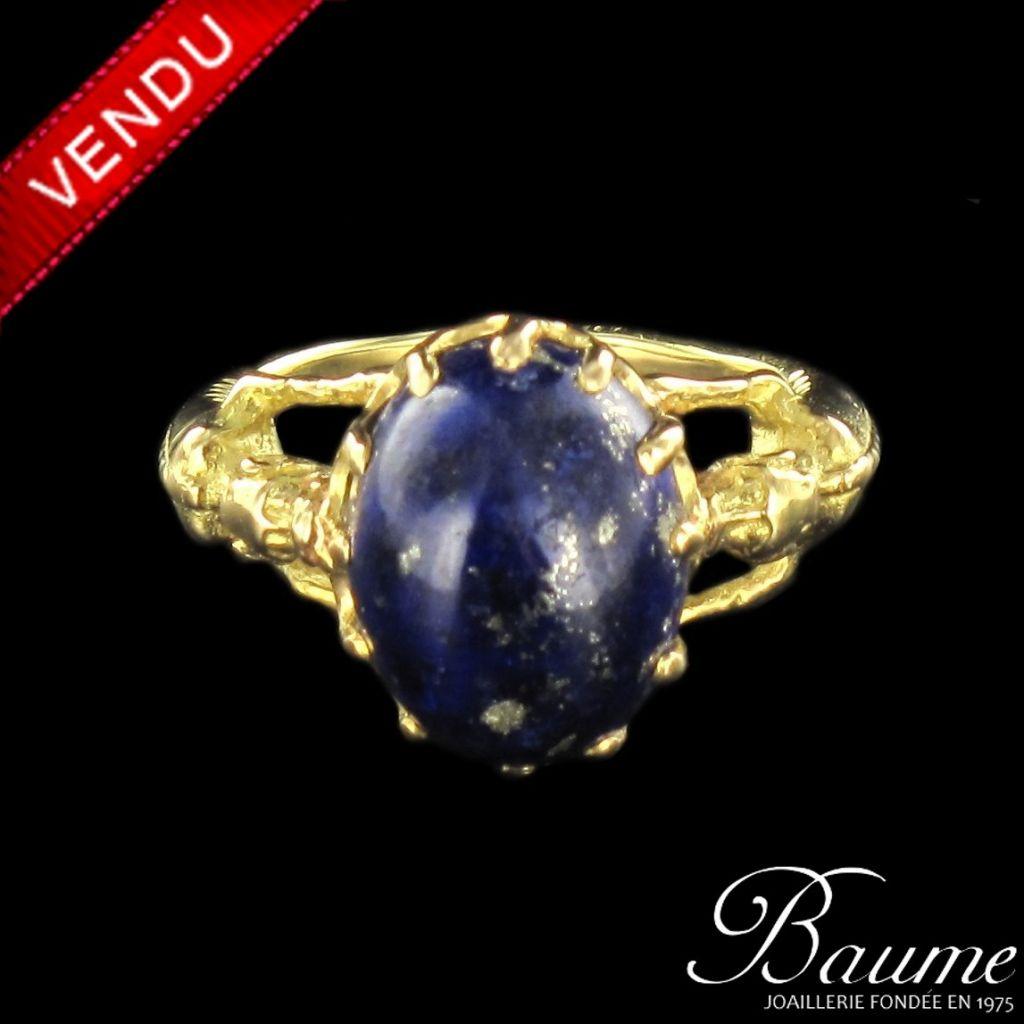 Bague ancienne Lapiz Lazuli