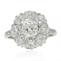 Bague ancienne marguerite de diamants
