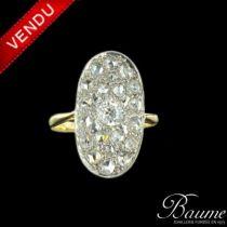 Bague ancienne marquise diamants
