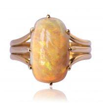 Bague ancienne Opale Australienne et Or