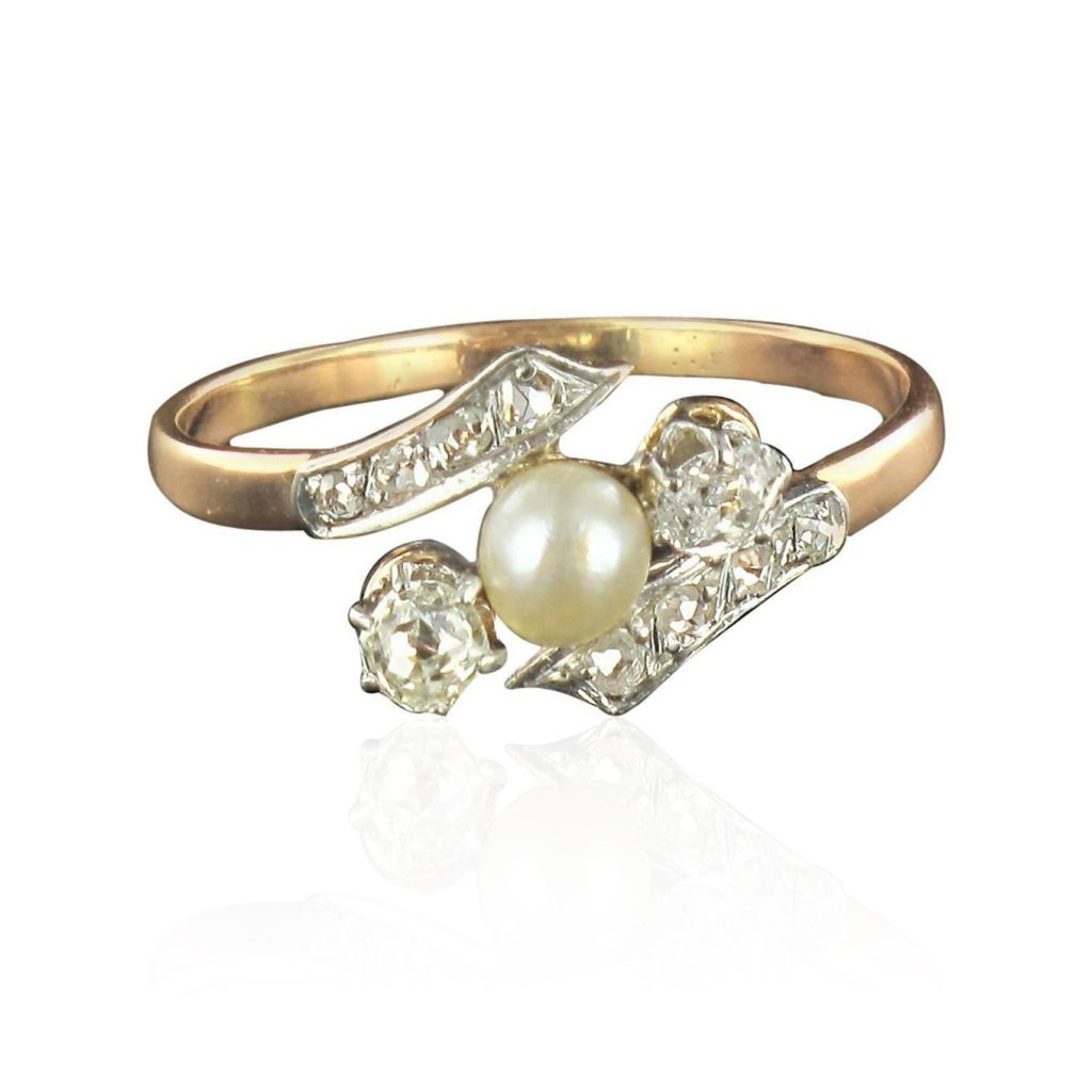 on save winter pearl rings engagement kataoka catbird ring diamond