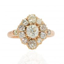 Bague ancienne pompadour diamants