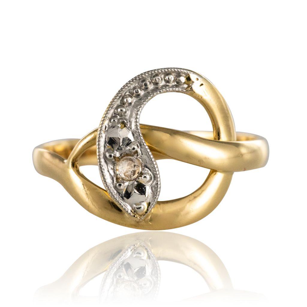 Bague ancienne serpent diamants