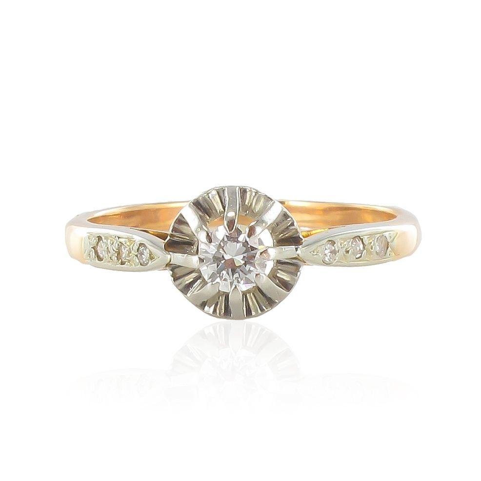 Bague ancienne solitaire diamant
