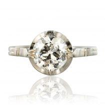 Bague ancienne solitaire diamants