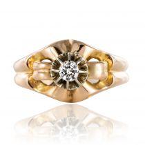 Bague ancienne vintage diamant