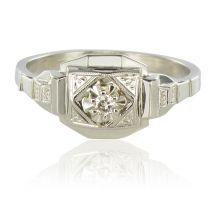 Bague art déco diamant géométrique