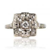 Bague Art déco diamant