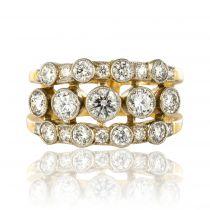 Bague bandeau diamants