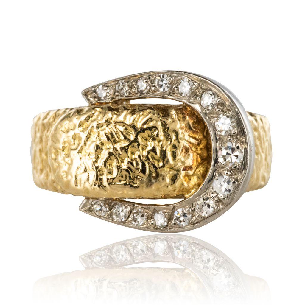 pas cher pour réduction cfe32 bf20a Bague ceinture diamants ancienne