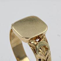 Bague chevalière ancienne en or
