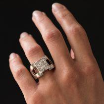 Bague chevalière Diamants