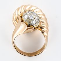 Bague couture or et diamants