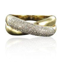 Bague croisée or diamants