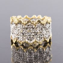 Bague dentelle d\'ors diamants