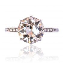 Bague diamant 2,45 carats ancienne