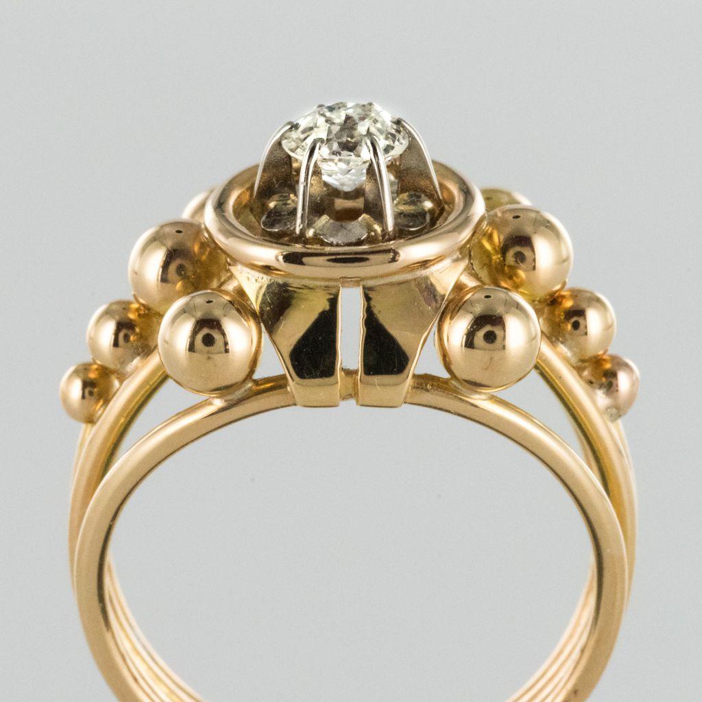 Bague diamant années 60