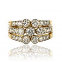 Bague diamants 3 anneaux