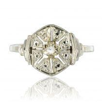 Bague diamants ancienne art déco