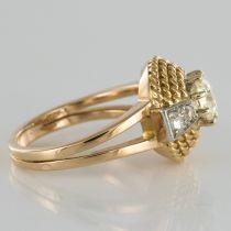 Bague diamants années 60