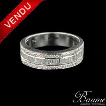 Bague diamants baguettes et diamants brillants