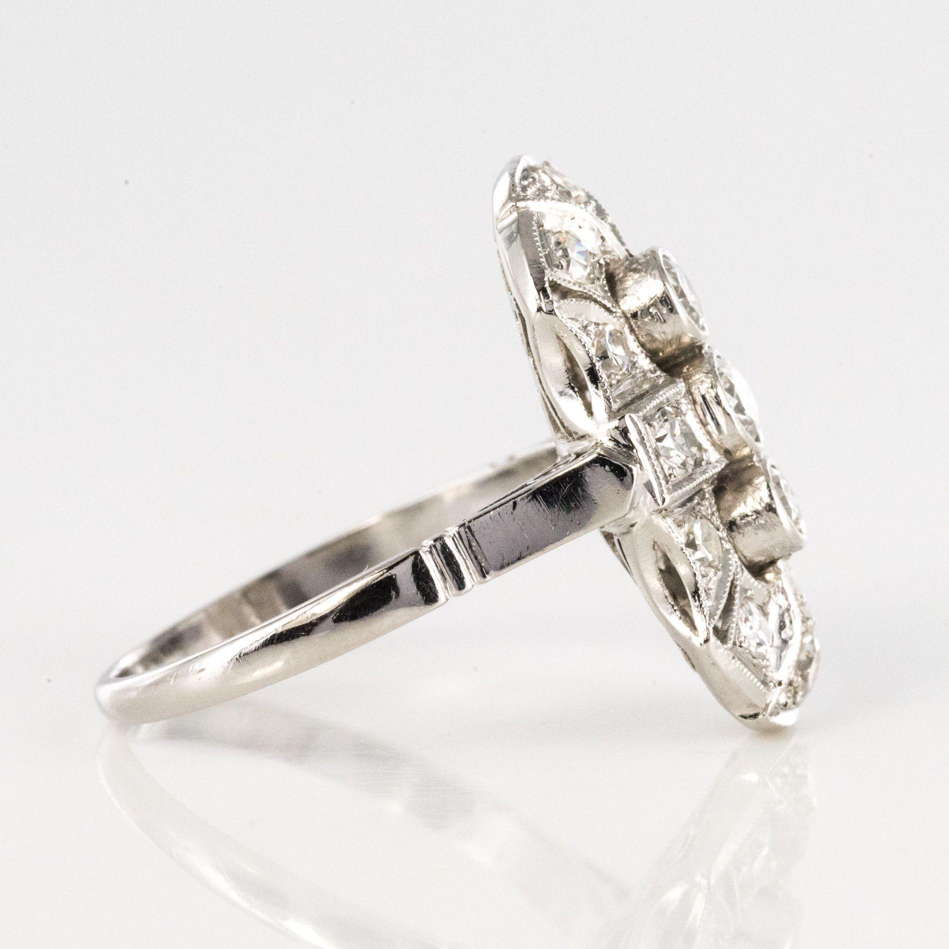 Bague diamants de style art déco