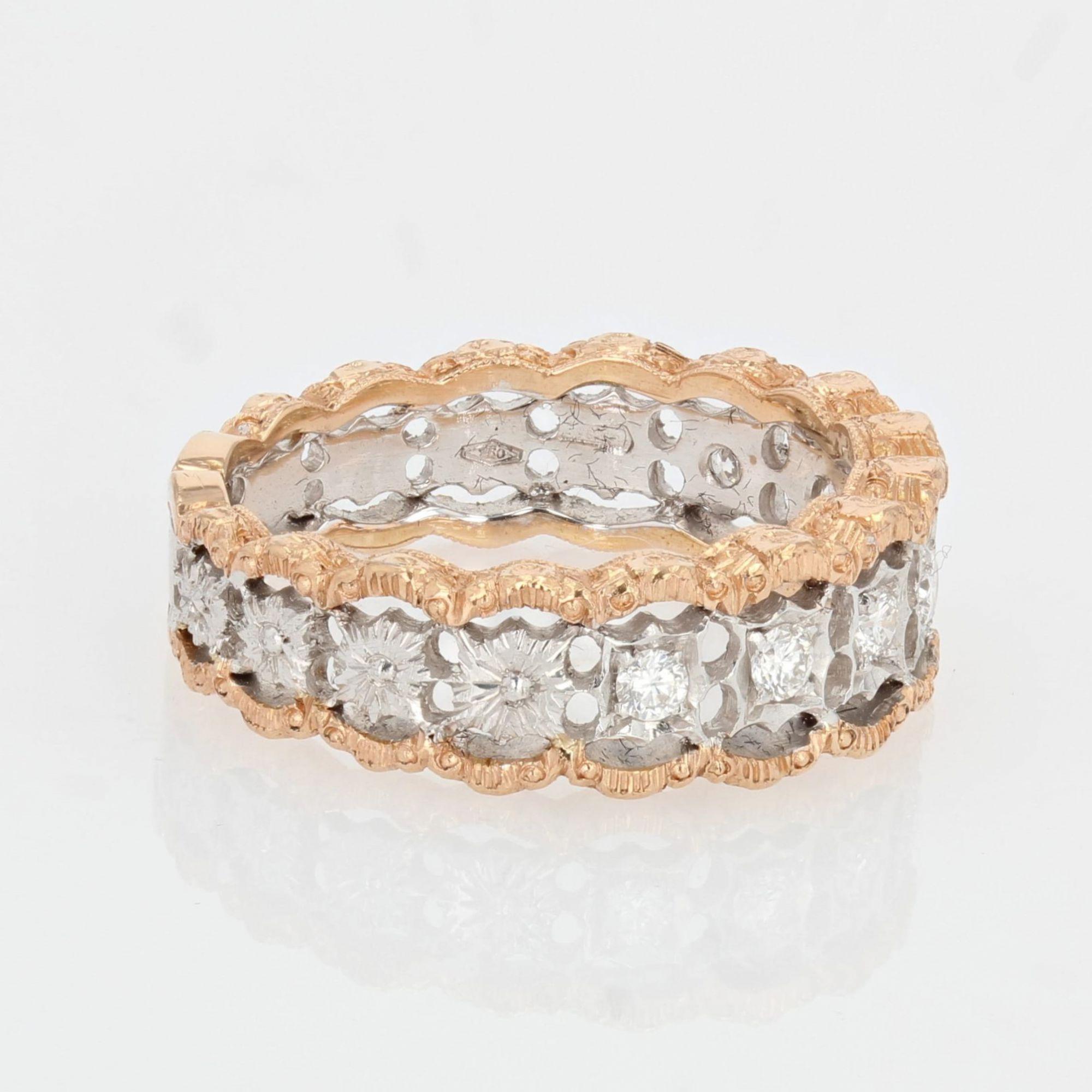 Bague diamants dentelle d\'ors
