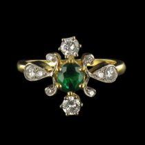 Bague diamants et émeraude G 6