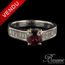 Bague diamants et rubis