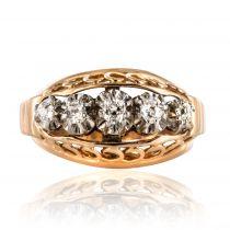 Bague diamants fils d\'or