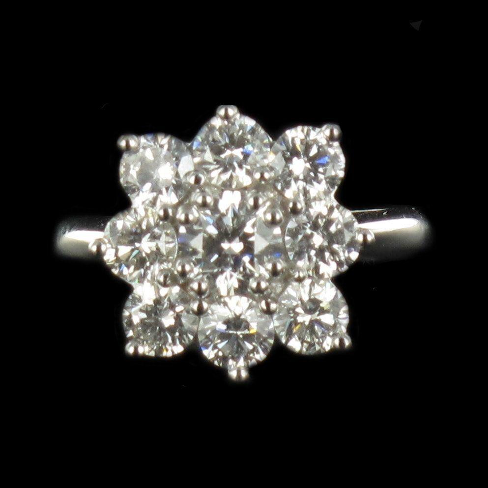 Bague diamants marguerite G 24